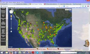 Rozkłąd promieniowania w USA